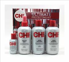 CHI Infra Ultimate Protecting Kit; Shampoo, Treatment, Keratin Mist and Infusion