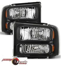 2005-2007 Ford F250 F350 F450 Superduty Harley Davidson Headlights Headlamps Set