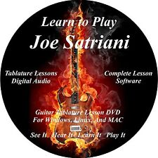 Joe Satriani Guitar TABS Lesson CD 202 Songs + Backing Tracks + BONUS!