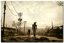 Fallout 3 Man And His Dog Art Silk Poster 24x36inch Wall Decor