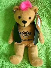 HRC Hard Rock Cafe Barcelona Punk Bear Mohawk 2011 Pink Hair Herrington