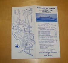CENTRAL RAILROAD OF NEW JERSEY FERRY RATES and SCHEDULE OCTOBER 30 1966
