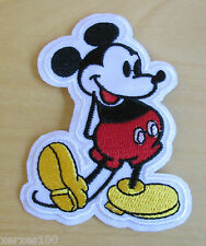 MICKEY MOUSE  Embroidered Iron or sew-On Patch FREE POST