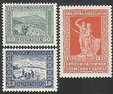 Yugoslavia 1931 Military/Army/Soldiers/War/Monument/Statue 3v set (n34495)