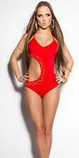 Red bling sexy monokini bikini adjustable top size small medium large XLarge