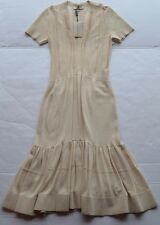 NWT Burberry London Parchment(Beige) Short Sleeve Women's Dress Size M $1,495