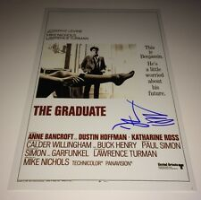 Dustin Hoffman THE GRADUATE SIGNED 11 X 17 Photo IN PERSON AUTOGRAPH PROOF