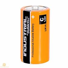 100 Duracell Industrial C MN1400 1.5V Alkaline Professional Performance Battery