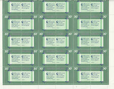 Stamps Nauru 1980 Christmas quotations pairs in set of 2 complete sheets of 30