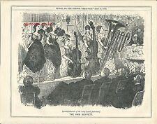 1875 Punch Cartoon Fair Sex-Tett Rising Accomplishments of Women Musicians