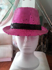 Something Special*Sequins*Pink*Fuhcia*Black*New*Fedora*Unisex*Women Hats