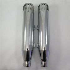 "3-1/4"" Slip-On Exhaust Muffler Pipe w/ Racing Cap For Harley Sportster 14-15 Chr"