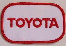 VINTAGE TOYOTA EMBROIDERED PATCH 92x58mm WOVEN CLOTH BADGE SEW-ON MOTOR RACING