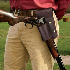 Tourbon Rifle Waist Belt Gun Holsters Real Leather Shotgun Military Hunting Tool