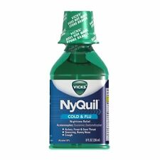 Vicks NyQuil Cold & Flu Nighttime Relief 8 Oz