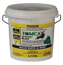 TOMCAT I ALL WEATHER BLOX GREEN 1.8Kg RAT BAIT MOUSE POISON