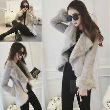 Fashion Women's Winter Fur Collar Coat Short Ruffled Jacket Irregular Outwear