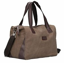 Berchirly Vintage Canvas Sports Duffel Bag Travel Luggage Carryon Bag Cof...