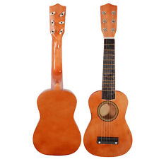 "21"" Beginners Practice 6 String Acoustic Guitar Musical Instruments Kids Coffee"