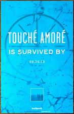 TOUCHE AMORE Is Survived By 2013 Ltd Ed RARE New Poster +FREE Metal Poster! AFI