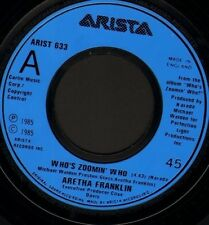 """ARETHA FRANKLIN who's zoomin' who 7"""" WS EX/ noc uk arista ARIST 633"""