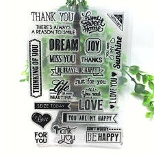 NEW Silicone Rubber Clear Stamp Diary Christmas Card Seal Scrapbooking DIY A07