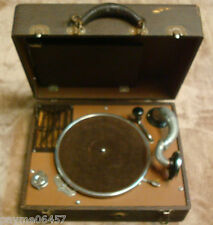 Vintage General Industries Co Junior Portable Phonograph Record Player