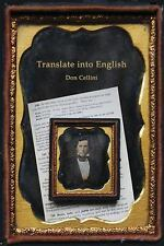 Translate Into English, Cellini, Don, Good Book
