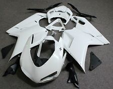 Unpainted Drilled ABS Bodywork Fairing Kit for Ducati 848 1098 1198 2007-2011