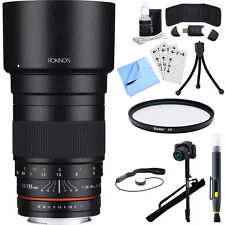 Rokinon 135mm F2.0 ED UMC Telephoto Lens Kit for Canon DSLR with Accessory Kit