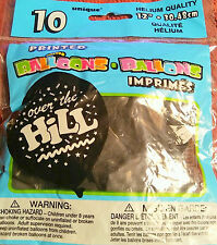 10 Helium Quality Balloons Assorted Over The Hill 12 inch  B73