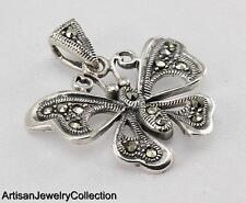 MARCASITE BUTTERFLY PENDANT 925 STERLING SILVER ARTISAN JEWELRY COLLECTION R662A