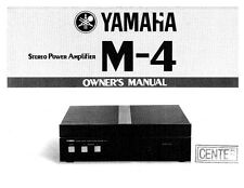 Yamaha M-4 Amplifier Owners Manual