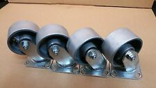 "4"" x 2"" Heavy Duty Semi Steel Wheel  Caster/ Set of 4  ( 700 LBS/EA-CAPACITY)"
