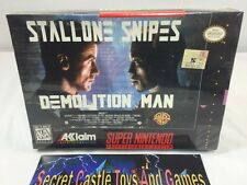 Demolition Man SNES Super Nintendo 1995 BRAND NEW FACTORY SEALED Complete in Box