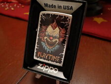 EVIL CLOWN SADISTIC SMILING FANGS PLAYTIME ZIPPO LIGHTER MINT IN BOX