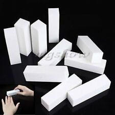 10 Pcs White Nail Art Buffer File Block Pedicure Manicure Buffing Sanding Polish