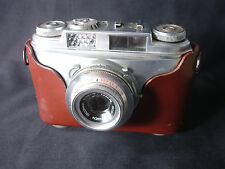 Old Vtg Arette IB Prontor-SVS ISCO-Gottingen 35MM Camera Leather Case