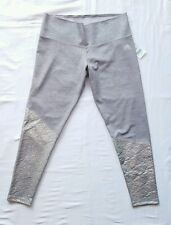 ADIDAS NWT Womens Climalite Mid-Rise Performance Capri Pants Grey Silver Large