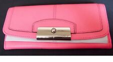 COACH KRISTIN LEATHER WALLET F45982 (Rose Pink)