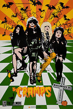 """The Cramps Signed 16"""" x 12"""" Photo Repro Concert Poster"""