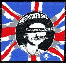 SEX PISTOLS 'GOD SAVE THE QUEEN' union jack woven patch