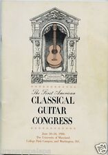 1986 -First American Classical Guitar Congress, University Maryland, & Wash DC