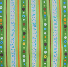 Animal Party Too Earth Stripe by Amy Schimler for Robert Kaufman, 1/2 yd fabric