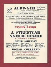 """Vivien Leigh """"A STREETCAR NAMED DESIRE"""" Tennessee Williams 1949 London Flyer"""