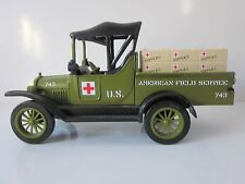 Gearbox Diecast 1918 Runabout Ambulance Bank Red Cross with KEY