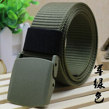 Army Green Men Sports Outdoor Military Tactical Canvas Belt Nylon Waistband New
