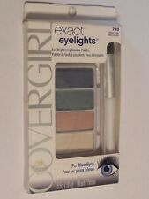 COVERGIRL EXACT EYE LIGHTS SHADOW PALETTE FOR BLUES EYES #710 RADIANT BLUES.