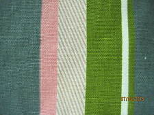 Vintage 1940's Cotton Fabric Material Waverly Bonded Cavalier Stripe