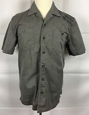 Harley-Davidson Black Label Men's M Shirt Button Front Short Sleeve Halloween